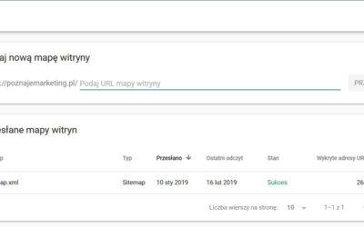Mapy witryn w Google Search Console