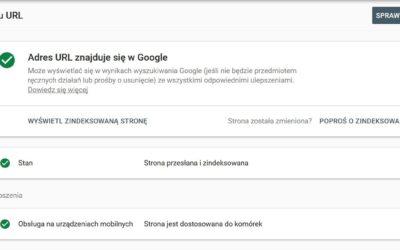 Sprawdzenie adresu URL w Google Search Console