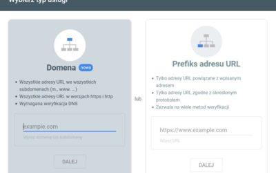 Dodawanie domeny do Google Search Console