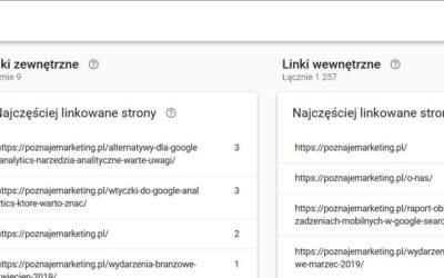 Linki w Google Search Console